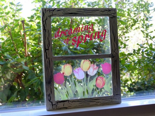 DIY Spring Window Decor