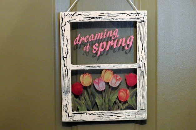 DIY Spring Window Decor