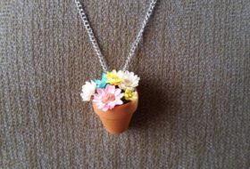 Flower Pot Necklace Craft