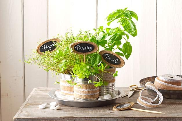 Welcome Spring With An Easy To Make Tabletop Herb Garden.