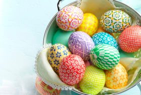 Decorate Easter Eggs with Colorful Washi Paper