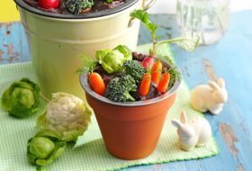 Make a Bean Dip Veggie Garden
