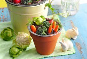Make a Bean Dip Veggie Garden