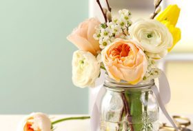Share a May Basket in a Mason Jar