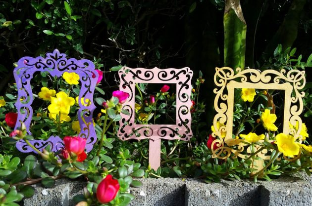 Flower Frames Garden Craft Garden Projects Plant Markers