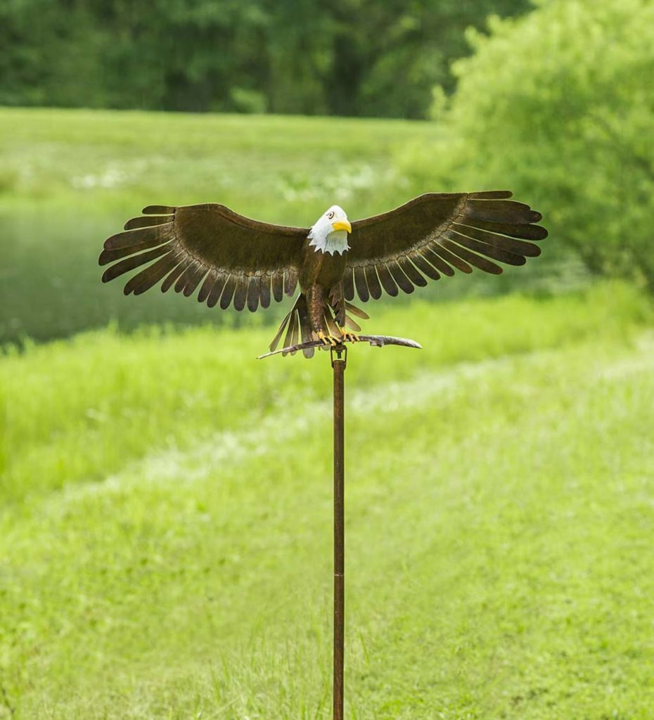 Decorative Bald Eagle Wind Spinner for the Garden