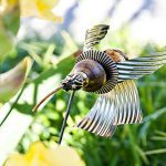 Upcycled Hummingbird Garden Sculpture