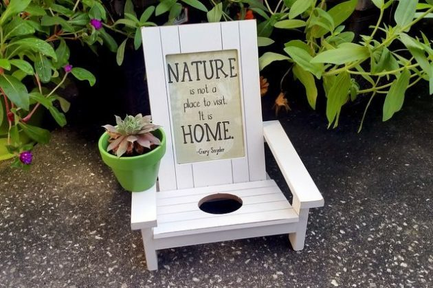Adirondack Chair Planter Craft