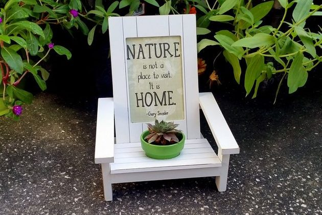 Adirondack Chair Planter Craft