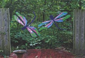 Make an Upcycled Tablecloth Dragonfly Craft