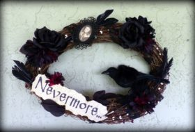 Nevermore Wreath Halloween Craft