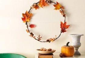 How to Create a Fall Leaf Wreath