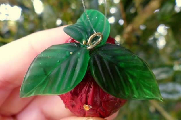 Strawberry Walnut Ornament Craft
