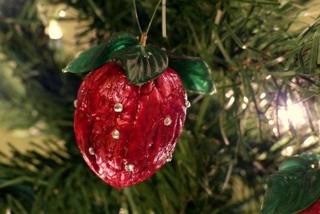 Strawberry Walnut Ornament Craft