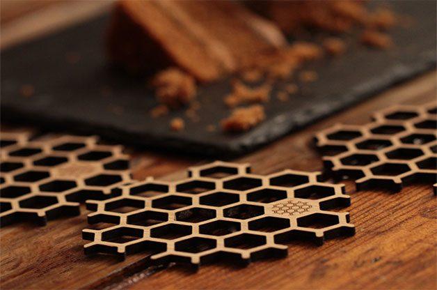 bumblebee coasters