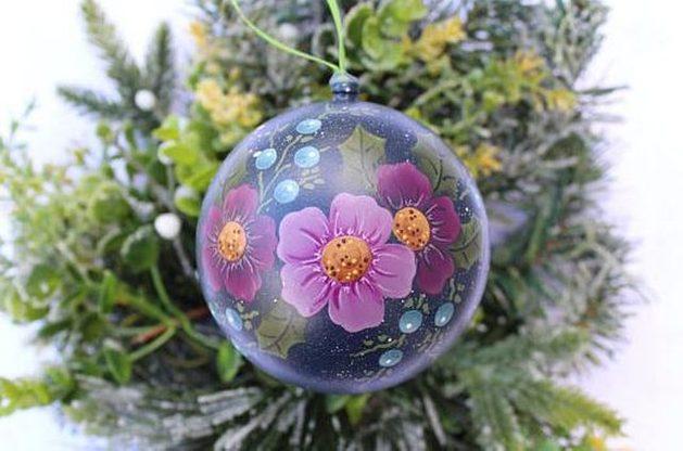 Nature Ornaments flowers blackdogartjudy Etsy