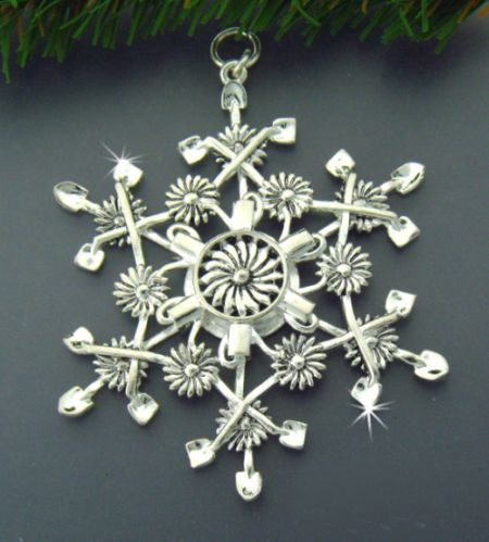 Nature Ornaments snowflake AshlingAine Etsy