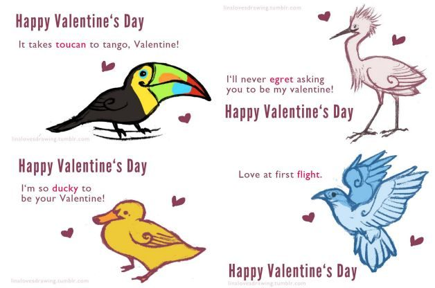Bird Lovers Valentine Cards Lina