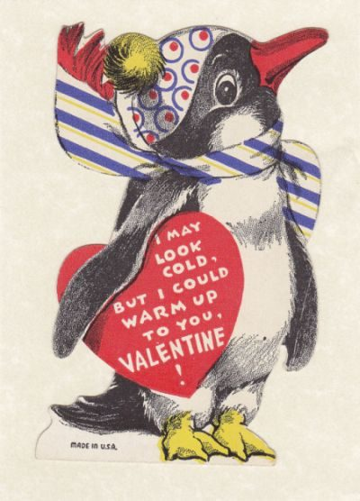 Bird Lovers Valentine Cards Penguin