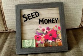 DIY Shadow Box Bank for Seed Money