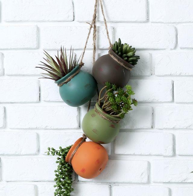 Mini Planters Hanging Pots