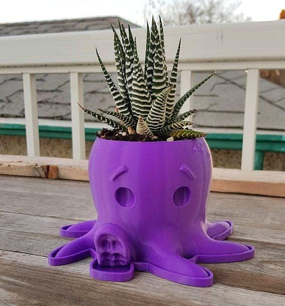Mini Planters Octopus KL3DPrinting