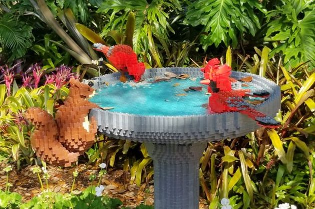 Nature Connects Birdbath