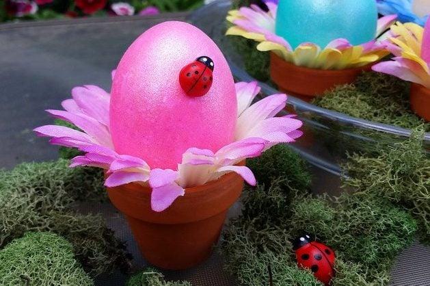 Flower Pot Easter Eggs 3