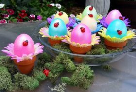 Flower Pot Easter Eggs