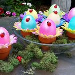 Decorate Adorable Flower Pot Easter Eggs