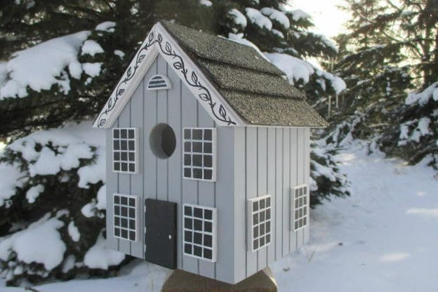 Grey Unique Birdhouses Northern Birdhouses Etsy