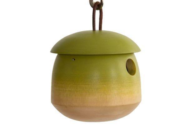Mango Wood Unique Birdhouses Home Depot