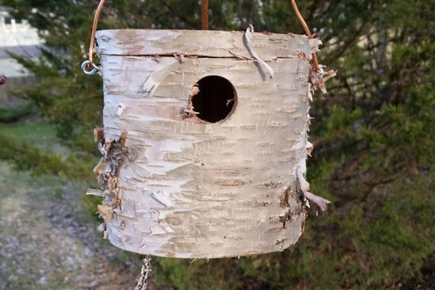 Milled Log Unique Birdhouses Etsy ArtoftheNorth