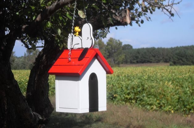 Snoopy Unique Birdhouses Donnys Yard Art Etsy