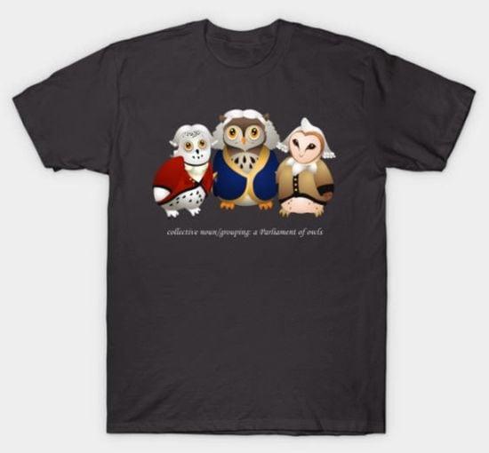 Owl Shirts Tee Public Parliament