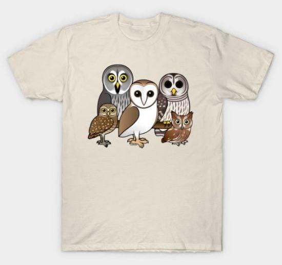 Owl Shirts TeePublic Birdorable