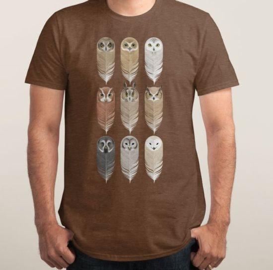 Owl Shirts Threadless Feathers