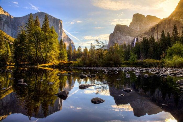 Sunrise on Yosemite Valley