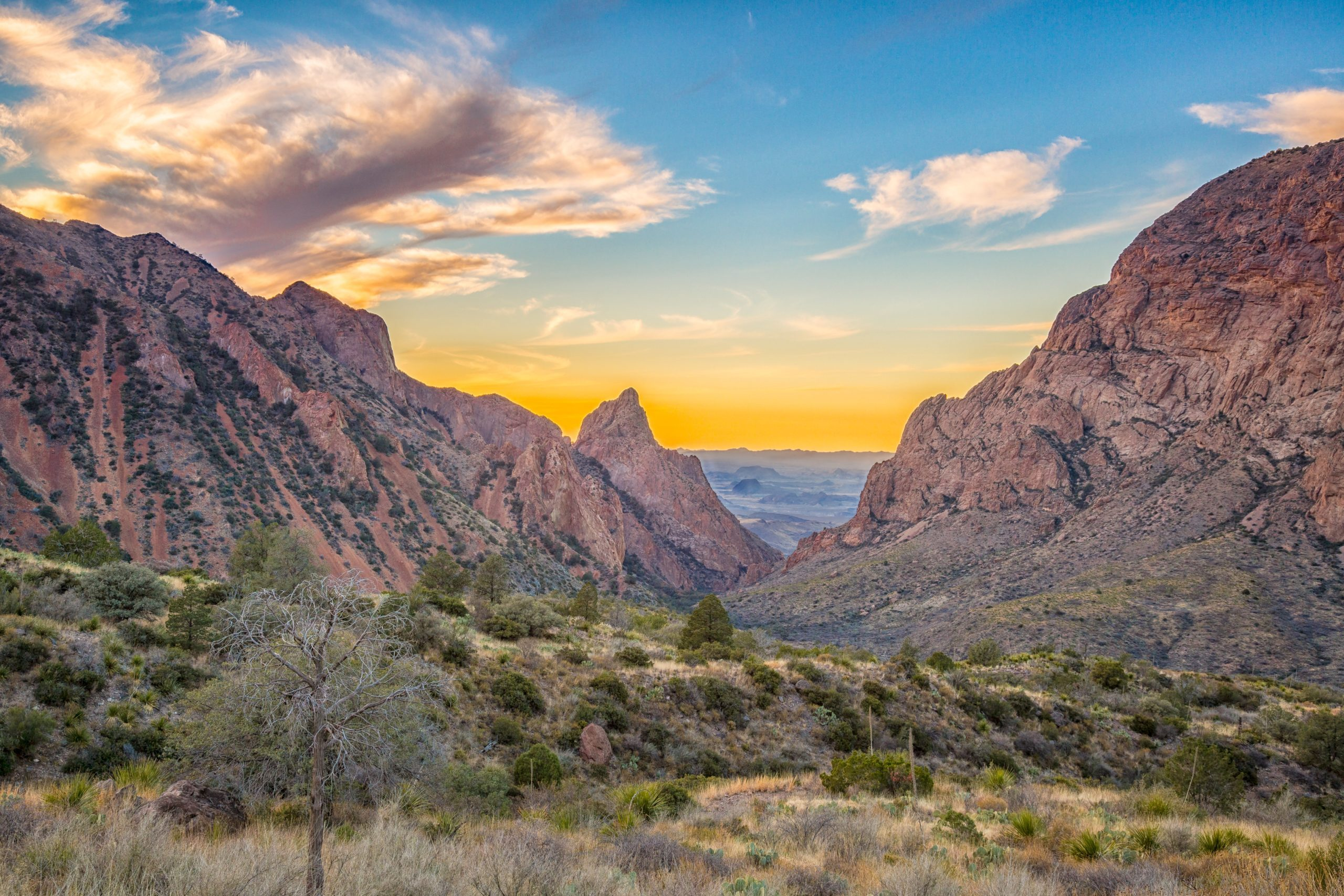 The Window in the Chisos Mountains of Big Bend National Park