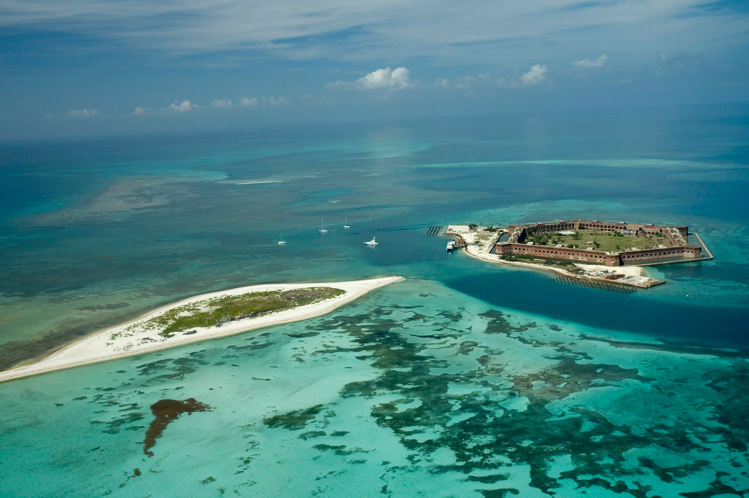 Aerial view of Dry Tortugas National Park, Fort Jefferson, Dry Tortugas