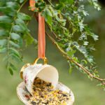 How to Make a DIY Birdfeeder and Bird House with Vintage China