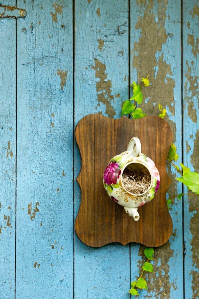 teapot birdhouse