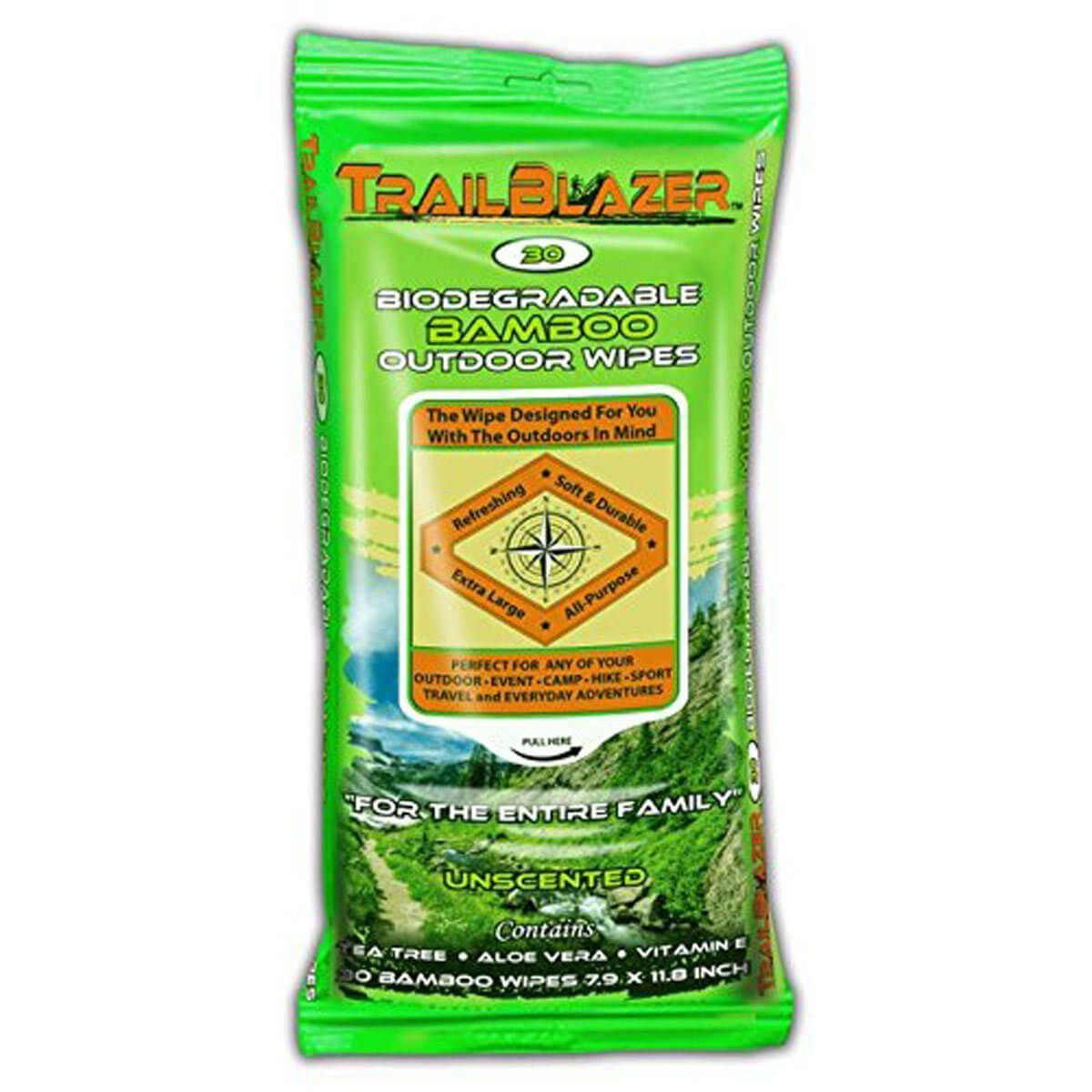 Biodegradable Bamboo camping Wipes