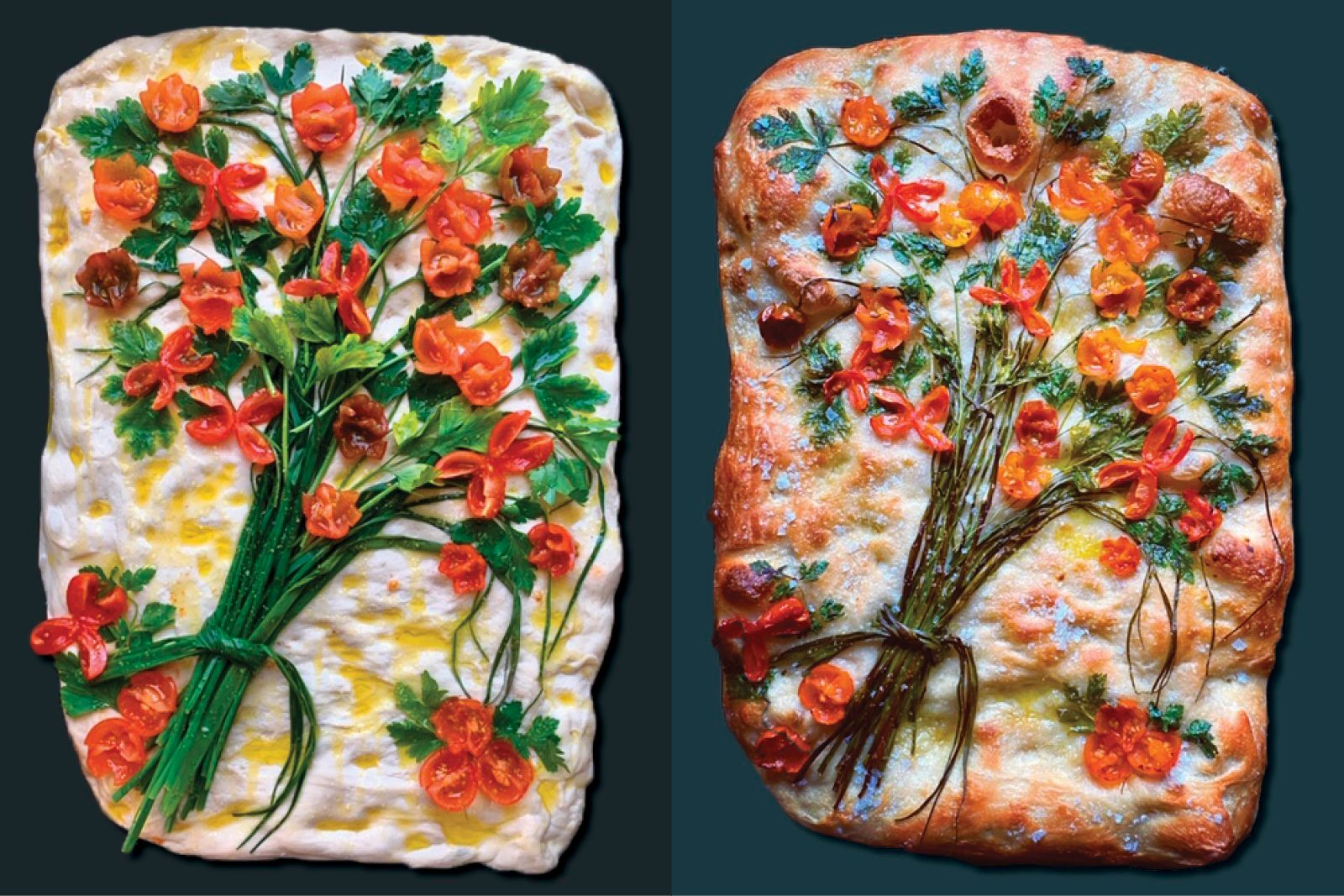 focaccia side by side