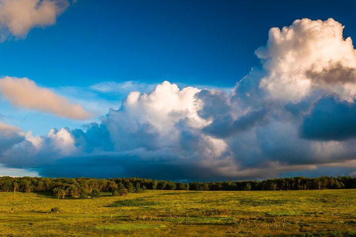 Incredible evening sky over Big Meadows, in Shenandoah National Park, Virginia.
