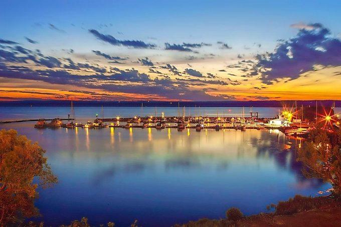 Ashland Marina at sunset