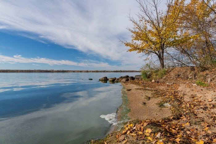 Big Stone Lake In Autumn