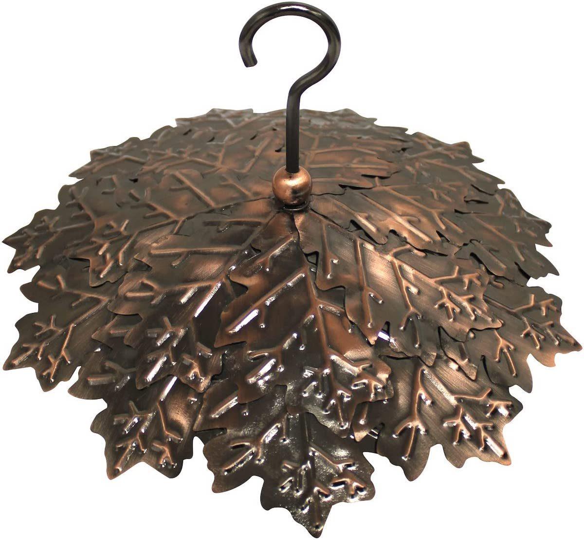 copper leaf bird feeder guard