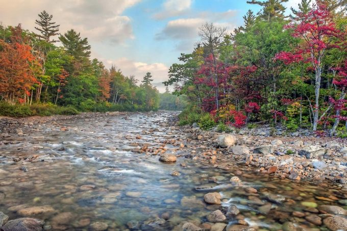 River on the Kancamagus Highway in the White Mountain Forest of New Hampshire