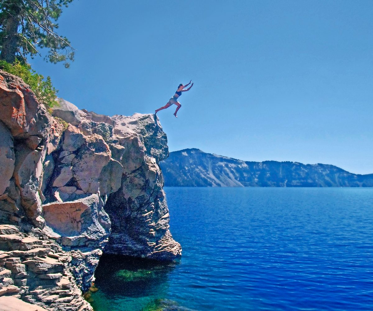 diving into Crater Lake